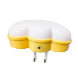 Image 3 - Woodpow kreatywna chmura kontrola czujnika światła LED noc gniazdo elektryczne lampka nocna dzieci lampka nocna do sypialni ue/usa wtyczka LED Light