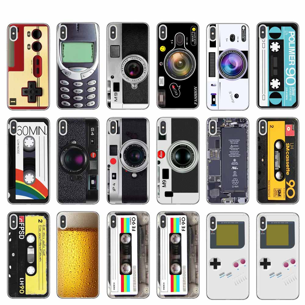 Vintage Tape Camera Gameboy Soft TPU Phone Cases For iPhone X 10 XR XS Max 8 7 6 6S Plus 5 5S SE Clear Silicone Back Cover Coque image
