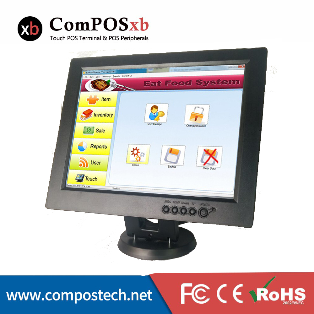 High Quality 12 Touch Screen Monitor For All In One POS System Black With Good Service TM1201 customer satisfaction with service quality