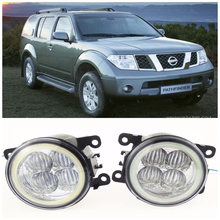 For NISSAN Pathfinder Closed Off-Road Vehicle R51  2005-2015 10W high brightness LED Angel eyes fog lights Car styling fog lamps