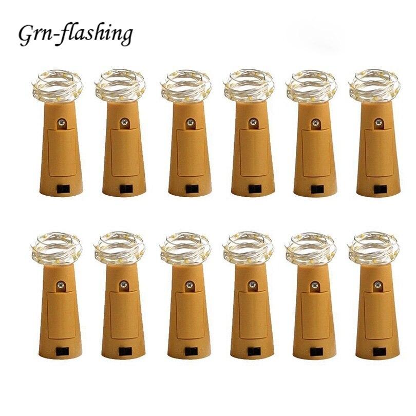 10 sztuk / partia Butelka Cork LED String Lights Dekoracje LED - Oświetlenie wakacje - Zdjęcie 1