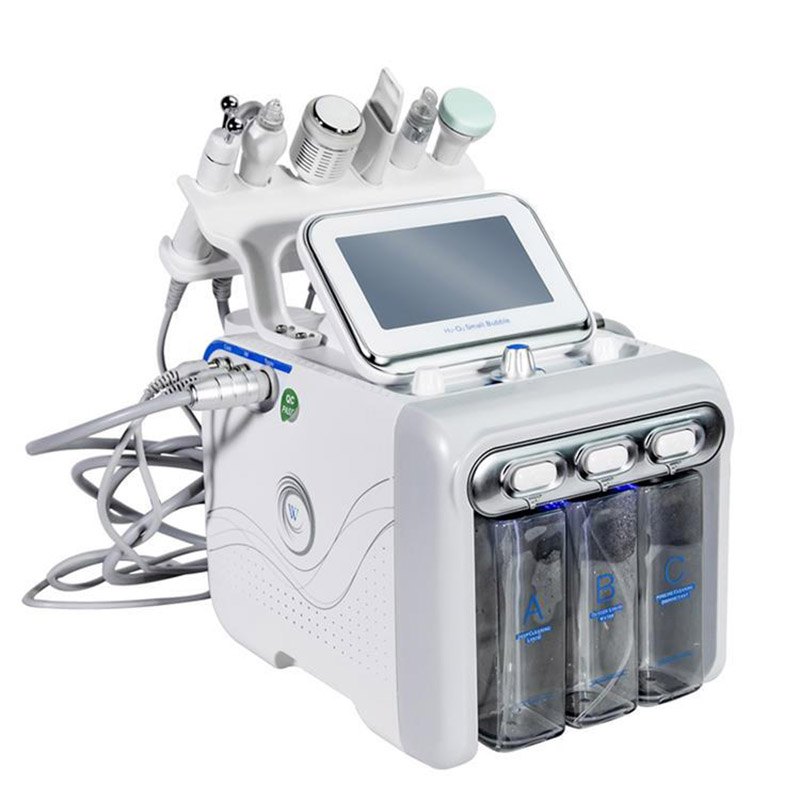 H2 O2 Aqua Facial 6 In1 Hydra Facial Water Dermabrasion Oxygen Spray With RF BIO Lifting Facial Machine/Hydro Microdermabrasion