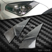 High Quality Real Carbon Fiber Decoration Headlights Eyebrows Eyelids Cover For BMW E84 X1 Accessories 2012