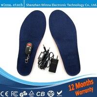 ฤดูหนาวที่อบอุ่นหรูหราInsolesอุ่นการควบคุมระยะไกลพื้นรองเท้าความร้อนหนาอุ่นรักษาแผ่นรอง