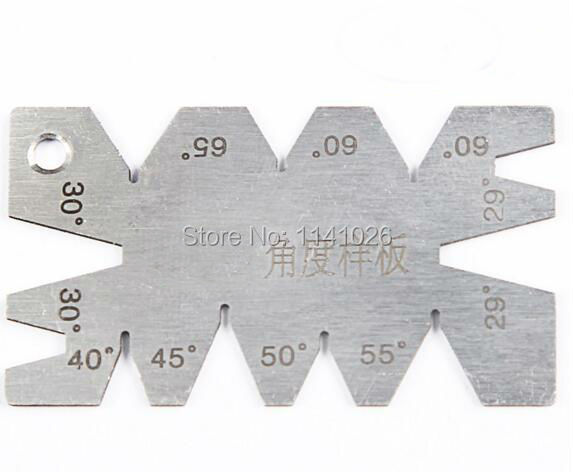 Free Shipping 1pcs Sliver Stainless Steel Screw Thread Cutting Angle Gage Gauge Measuring Tool