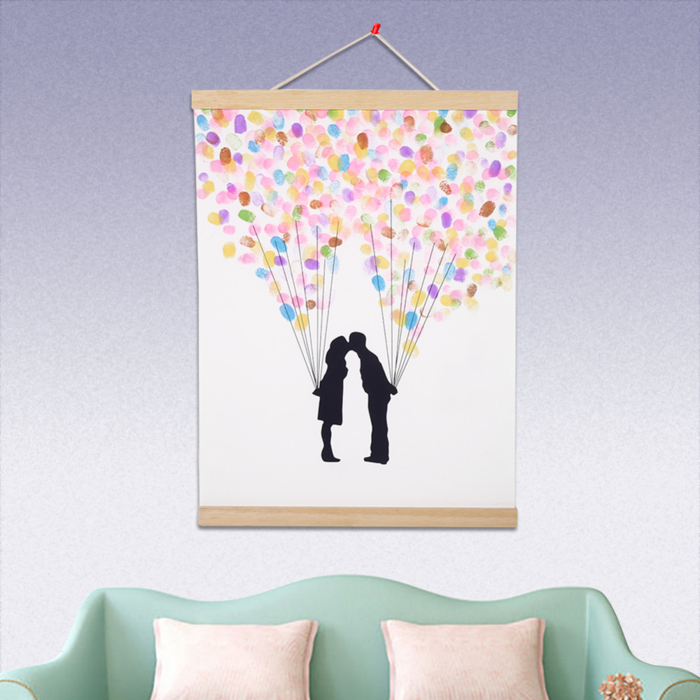 Magnetic Wooden Hanger Poster Bilderrahmen Holz DIY Bild Leinwand ...