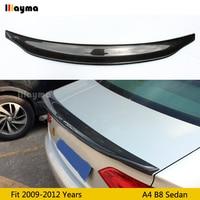 CA Style Carbon Fiber rear trunk spoiler For Audi A4 B8 sedan 2009 2012 year Car rear wing spoiler (Not fit Sline S4 RS4)