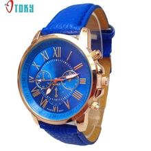 Watch OTOKY Willby 2015 Women Stylish Watches Numerals Faux Leather Analog Quartz Wrist Watch 161227 Drop Shipping