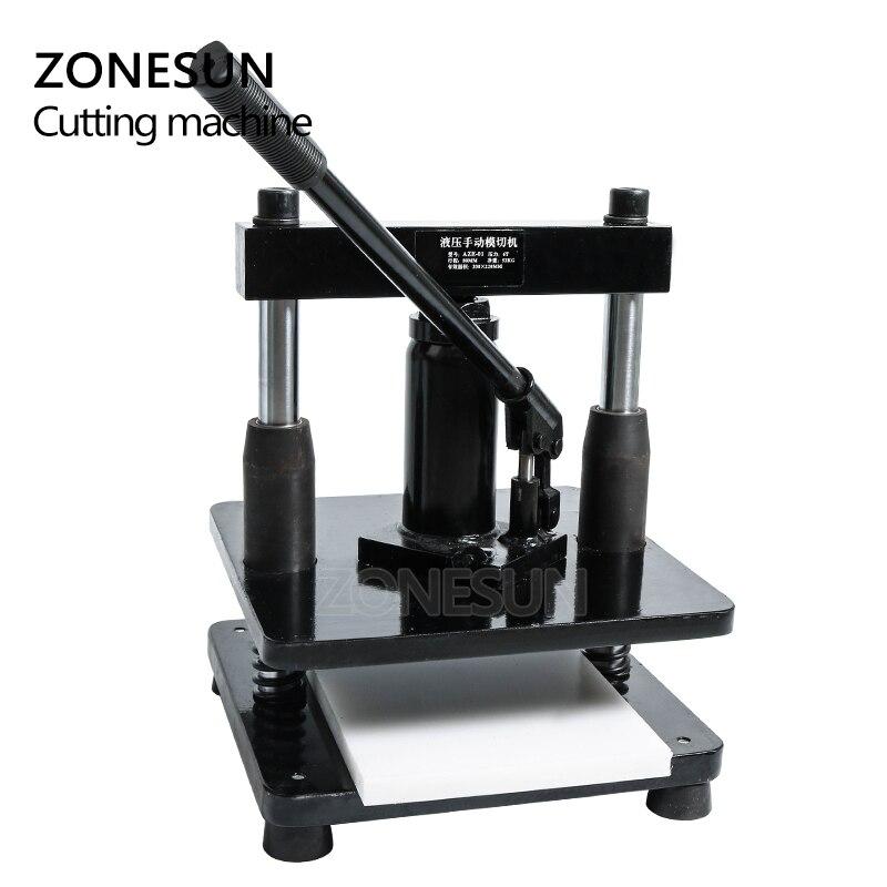 ZONESUN cuir hydraulique manuel machine de découpe papier photo PVC/EVA feuille moule coupe matrice pour bricolage papercraft - 4