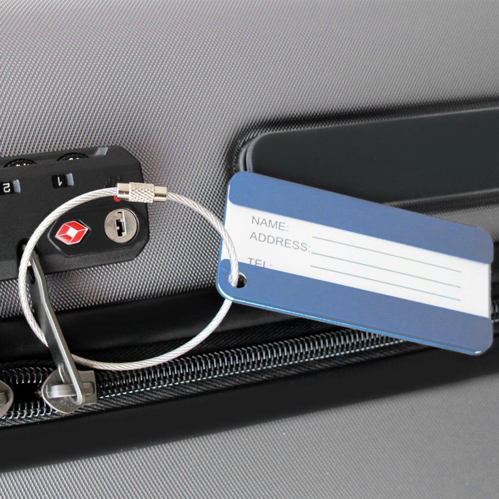 Алюминиевый сплав Открытый Инструменты путешествия Чемодан тег багаж чемодан сумка Имя Адрес ID Метки путешествия тег удостоверение личнос...