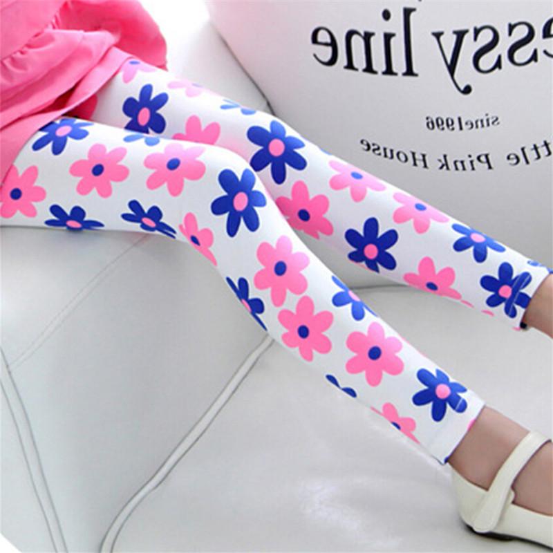 New Style Spring Autumn Children Leggings Flower Butterfly girls pants kids legging 9
