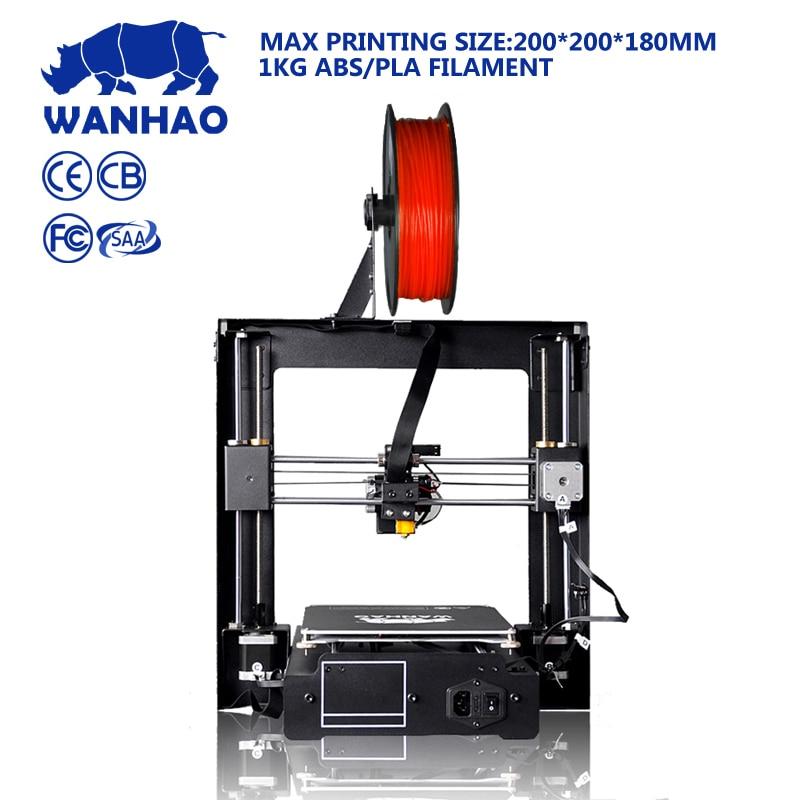 Wanhao I3 Plus 3D Printer, Duplicator i3 Plus, Desktop And Digital 3D Printer, Factory Supply 3D Printer new mootooh personal fdm 3d printer digital desktop printer prusa i3 3d printer for discount