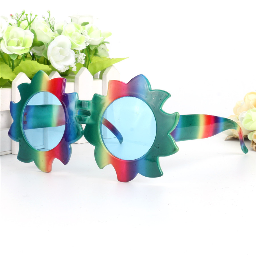 Gökkuşağı Ayçiçeği Kostüm Gözlük Dekoratif Parti Photo - Tatiller ve Partiler Için - Fotoğraf 2