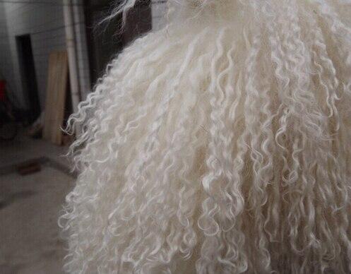 Fashion Tibetan Lamb Rug Goat Skin Blanket Sheep Plate Curly Fur