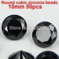 8 colores 50 unids 10 mm cristal corte brillante redondo diseño belleza bolas de piedra Zirconia cúbico suministros para la joyería decoración del arte del clavo