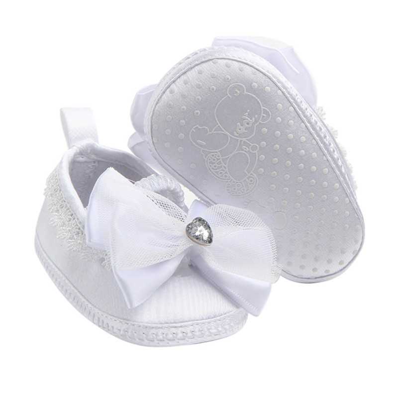 Shoes Toddler Prewalker Anti-Slip Baby-Girl White Lace Bowknot 0--9mm1 Simple