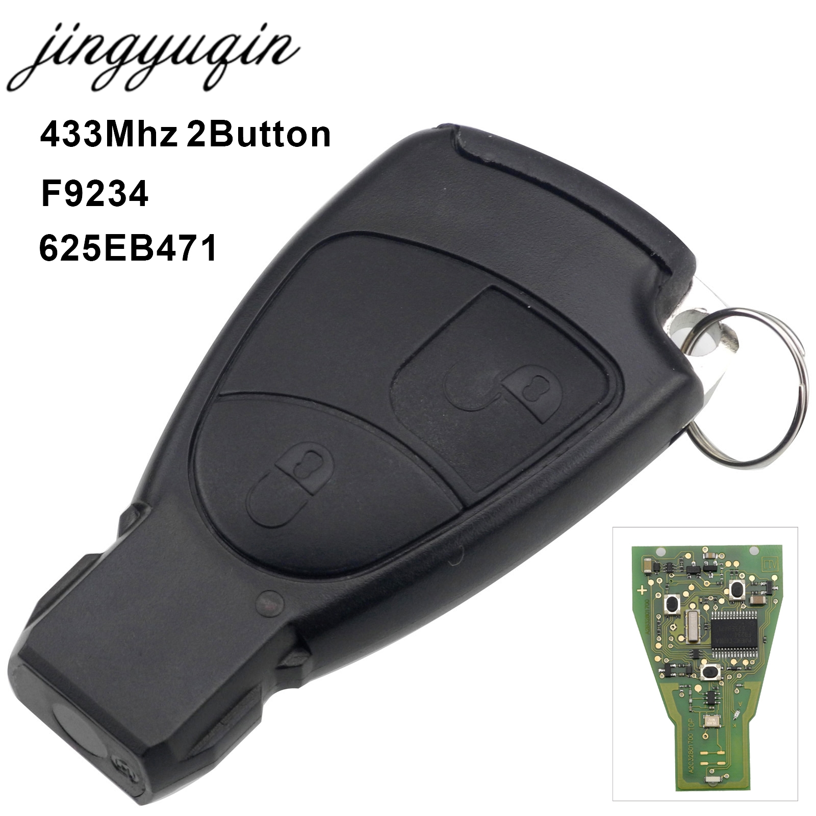 Jingyuqin 433 mhz 2 Bouton Smart Clé De Voiture À Distance Fob Pour Mercedes pour Benz C E ML Classe Contrôle Sprinter circuit Conseil Sans Clé