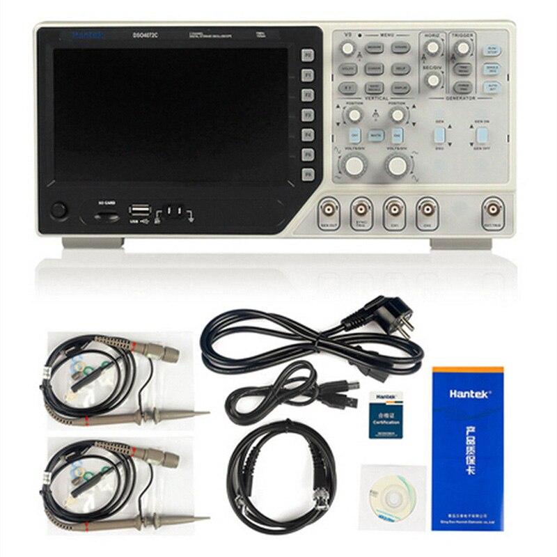 Hantek 2 in1 Numérique Oscilloscope DSO4072S DSO4102S DSO4202S 70 mhz 100 mhz 200 mhz 2CH 1GSa + 25 m Fonction générateur de forme d'onde