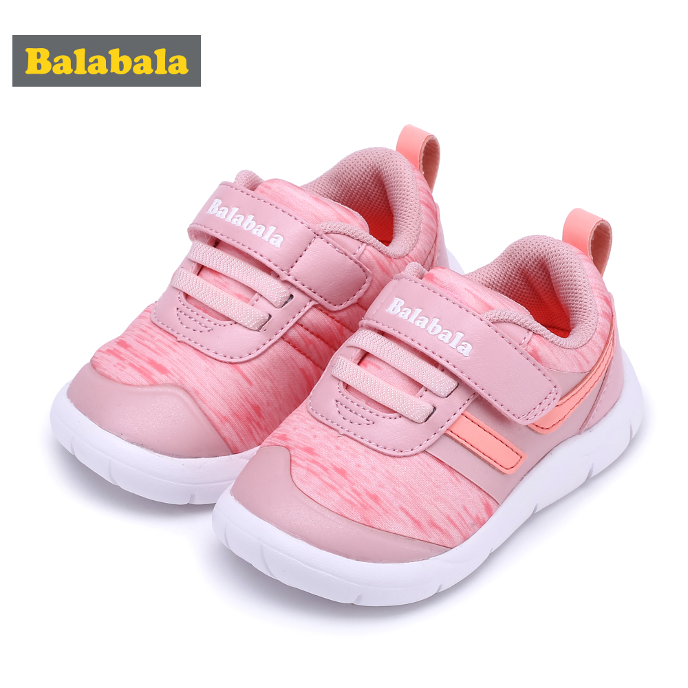 Balabala Baby Girls Sneakers Lighting Kids Shoes For Girls Lightweight Soft Bottom Non Slip Wear Resistant Child Sports Shoes Co