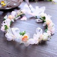De mariage Floral Couronne Tête Bande Floral Tête Guirlande Femmes Bandeau De Fleur de Demoiselle D'honneur De Mariée Casque Fille Cheveux Fleur Couronne 89298
