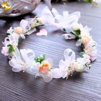 Wedding Floral Crown Head Band Floral Head Wreath Women Flower Headband Bridesmaid Bridal Headpiece Girl Hair Flower Crown 89298
