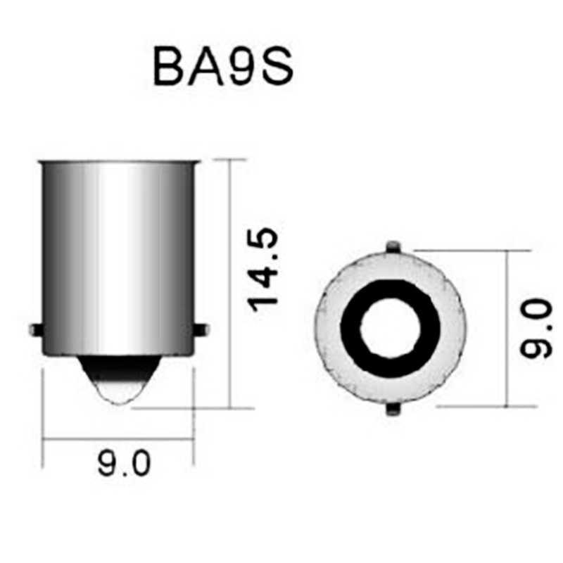 1Pcs BA9S T4W 363 1895 233 Super Terang Bulat 3D Tongkol LED Mobil License Plate Lampu Auto Pintu Interior lampu Penanda Bohlam Putih DC12V