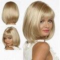 HAIRJOY женская Синтетический Бобо Парик Моды Короткие Волосы Светлые Парик с Полным Взрыва