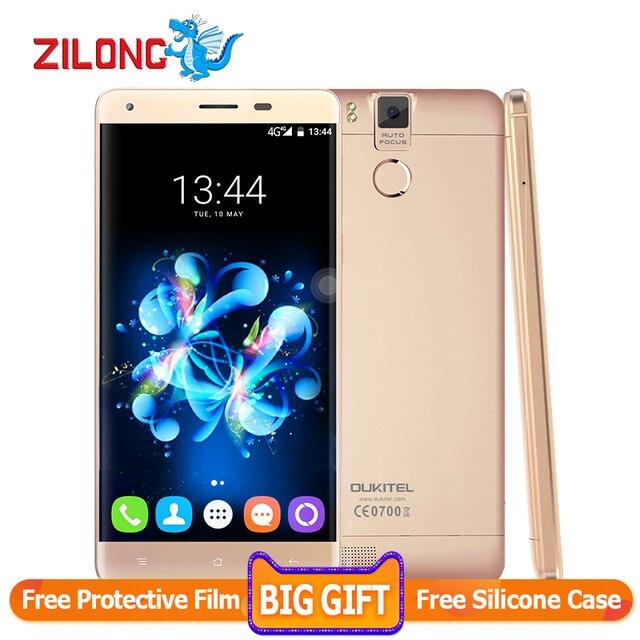 In Stock Oukitel K6000 Pro 5.5'' 4G LTE Mobile Phone MTK6753 Octa Core 3GB+32GB Fingerprint 13MP 6000Amh Fingerprint Cell Phones