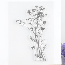 Flower Clear Stamp for Scrapbooking DIY Album Paper Card Making Planner Transparent Silicone Seal Stamp Decoration