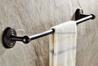 Oil Rubbed Bronze Wall Mounted Single Towel Bar Towel Holder Towel Rack Black Brass Bathroom Accessories Bba126