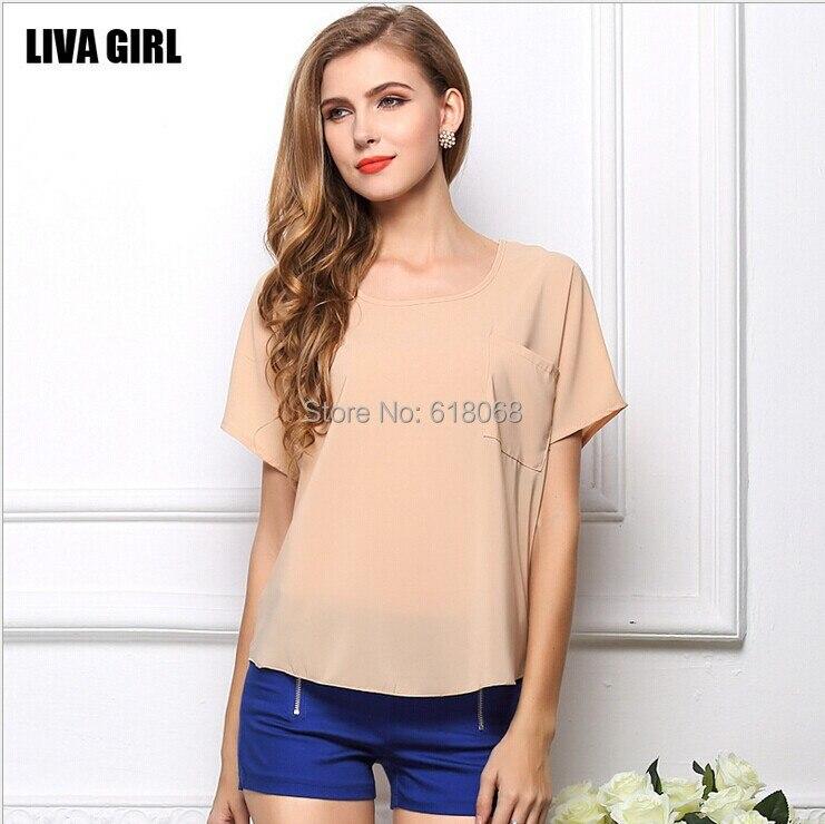 d03c1006bea NºЛидер продаж! Для женщин шифоновая рубашка на лето 20 видов Цвет ...