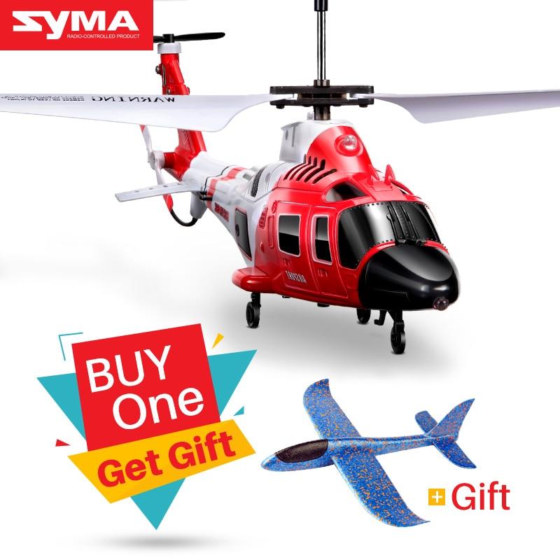 SYMA S111G Attack Marines RC Helikopter Med LED Lys 3.5CH Helikopter Fjernbetjening RC Drone Shatterproof Legetøj For Børn