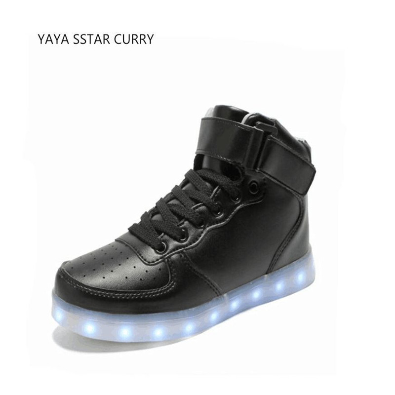 YAYA SSTUR Curry2 new 2018 tall men and women shoes fluorescent shoes air force one,leading sports LED light sports shoes ...