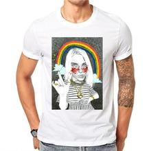 Billie Eilish T Shirt Brand Clothing Hip Hop Letter Print Men T-shirt Short Sleeve Harajuku High Quality T-Shirt Men Top Tee