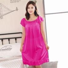 fac7acccfc Foply Satin Silk Nightwear Shirt sleep nightgowns Sleepwear nightdress  Women s sexy sleepwear sexy women s nightgown women sleep