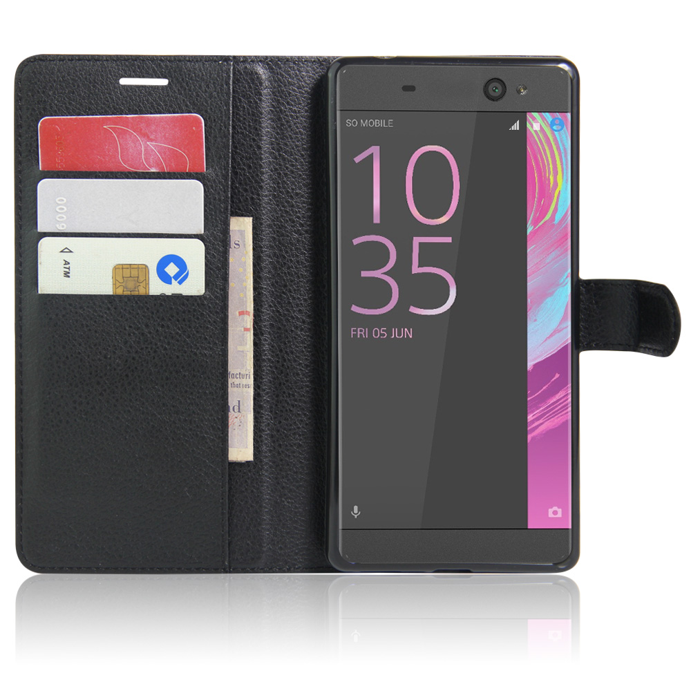 best sneakers b9517 d1fcb US $4.99 |Luxury Leather Cover HUDOSSEN For Sony Xperia XA Ultra / C6 Ultra  F3212 F3216 Protective Cell Phone Case Stand Flip Wallet Cover-in Flip ...
