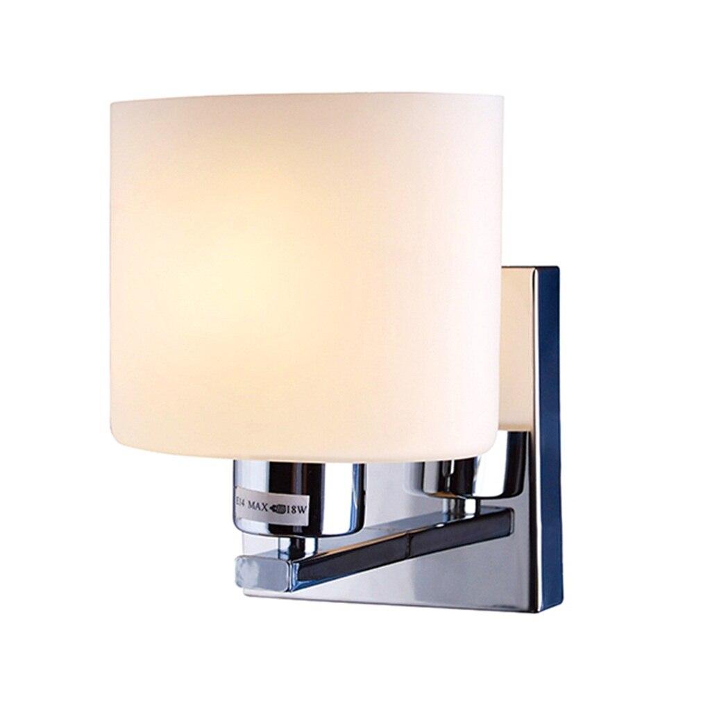 ICOCO High Quality Modern Wall Light Cover Glass Shape Chrome Lamp Sconce Corridor Living Lamp Shade