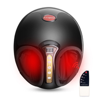 Electric Shiatsu Foot Massager Feet Infrared Heating Kneading Air Compression Reflexology Massage Device Home Relaxation