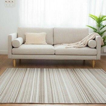 Japan style peace striped bedside rug ,big size living room coffee table carpet, Pastoral decoration floor mat , custom rug