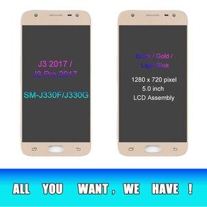 Image 3 - J3 2017 LCD עבור סמסונג גלקסי J330 J330F SM J330FN תצוגת LCD ומסך מגע Digitizer עצרת עם דבק כלים