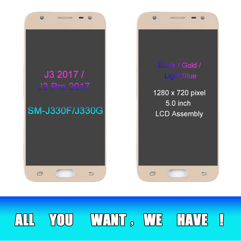 Image 3 - J330 LCD For Samsung Galaxy J3 2017 Replacement LCD Screen J330F SM J330FN LCD Display+Touch Screen Digitizer Assembly Adhesive-in Mobile Phone LCD Screens from Cellphones & Telecommunications