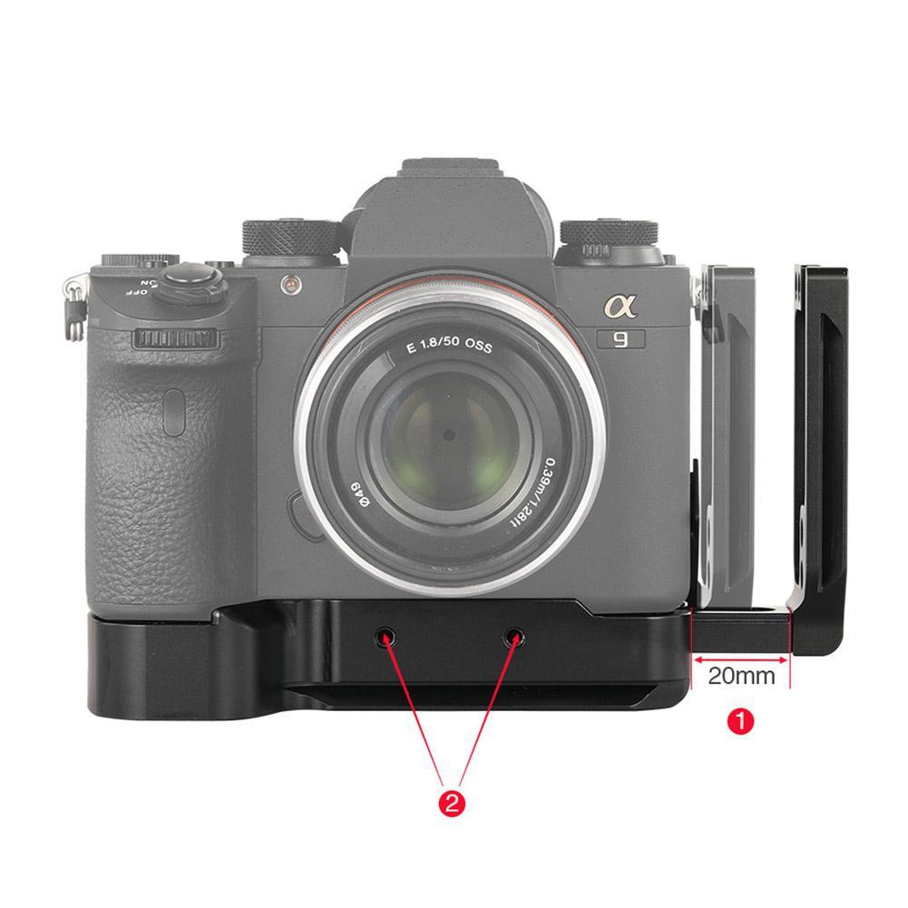 Yiwa L plaque de support pour Sony A7M3/A7R3/A9/A7III plaque de base à dégagement rapide et accessoires de caméra à plaque latérale