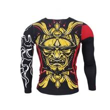 SUOTF Golden Japanese Warrior Spray mma clothing jaco Fitness Fighting Fierce Boxing Sweatshirt Boxing jerseys short