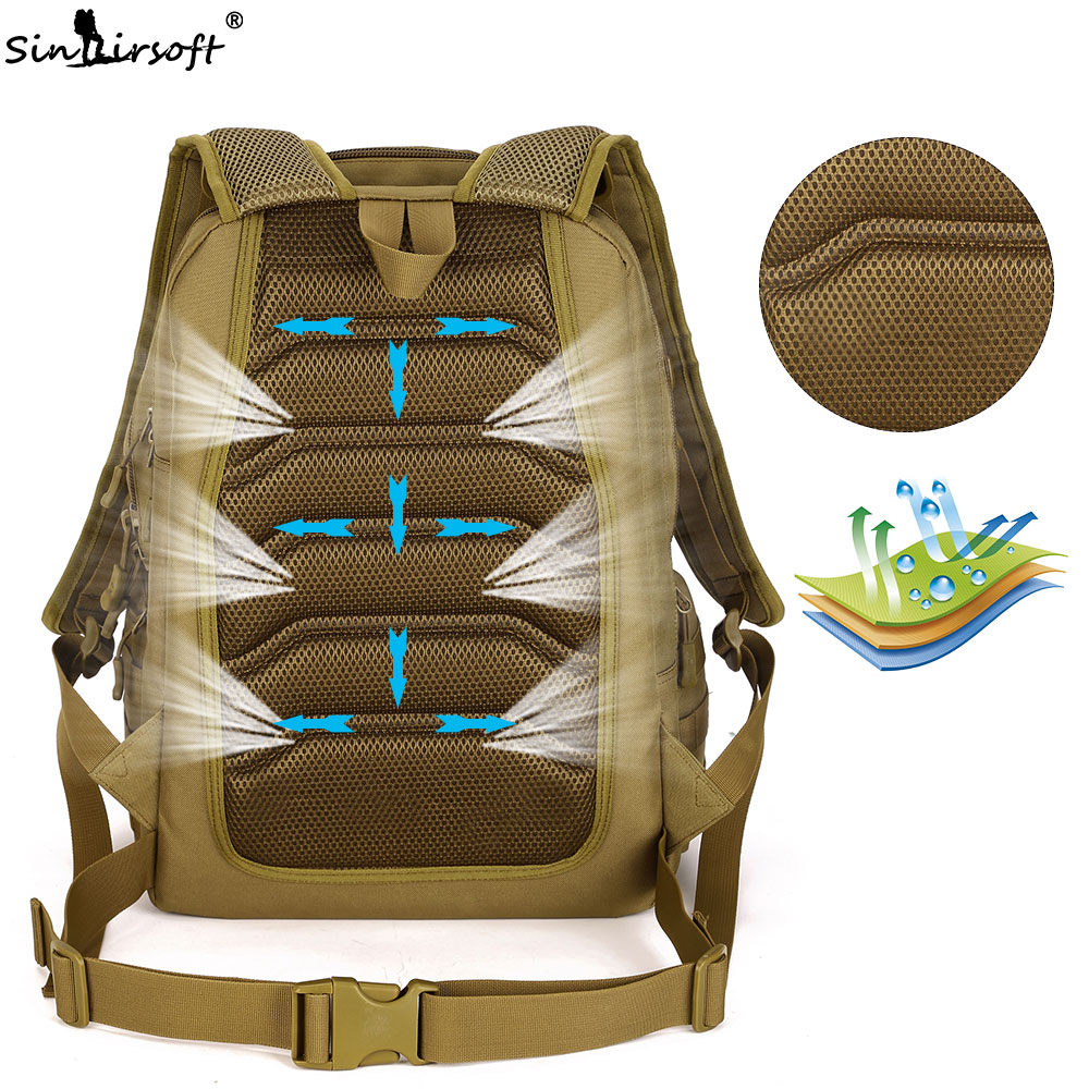 ca876ba2f9 High Quality Men Travel Bags Molle 3D Military Tactical Backpack Rucksack  Camping Hiking Trekking 40L Outdoor Sports Backpacks Tags