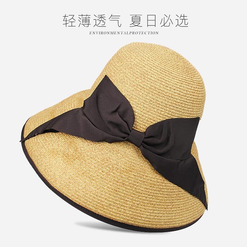 Yeni Gəlmə Moda Günəş Şapkaları Qadın Tətili Yay Çimərliyi - Geyim aksesuarları - Fotoqrafiya 3