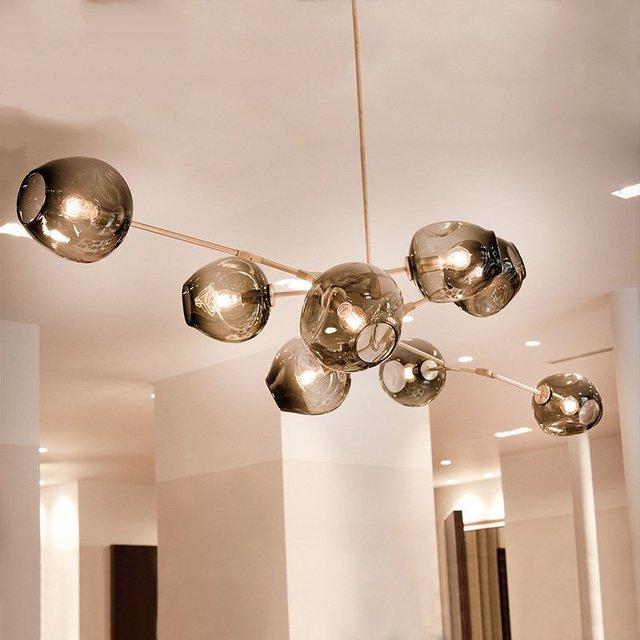 Globe Glas Hanglamp Lamp Moderne Bal Bubble Moleculaire Lichten ...
