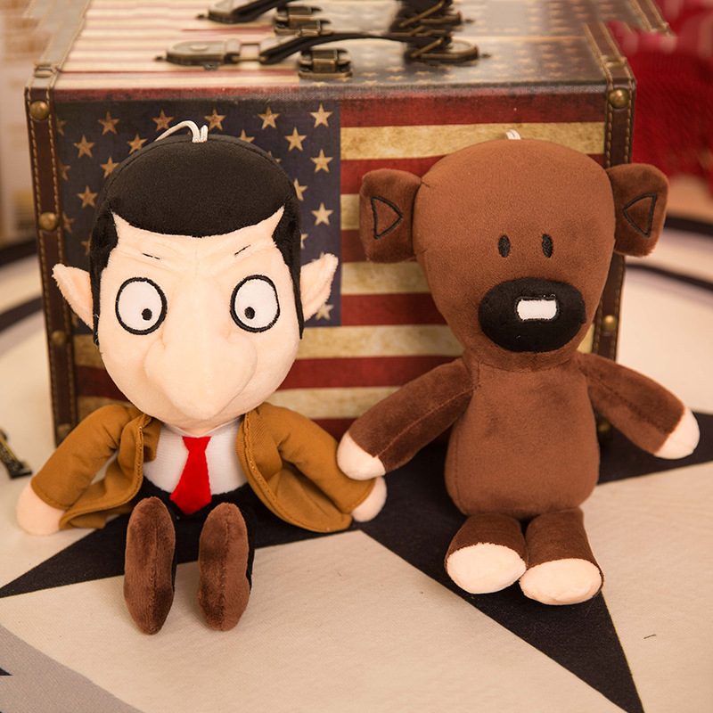 2PCS/SET Funny 11 Movie Mr Bean and Teddy Soft Doll Stuffed Animal Plush Toy Children Toy Gifts Birthday Chirstmas plush stuffed animals doll soft toy novel gift funny toy cute foxes little prince movie animation birthday