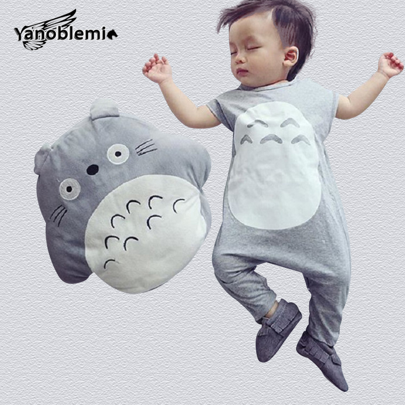 Totoro Rompers And Hats Cotton Baby Overalls Spring Jumpsuit Clothes Children Christmas Costumes For Boys Pajamas Cartoon Romper baby clothes baby rompers winter christmas costumes for boys girl zipper rabbit ear newborn overalls jumpsuit children outerwear
