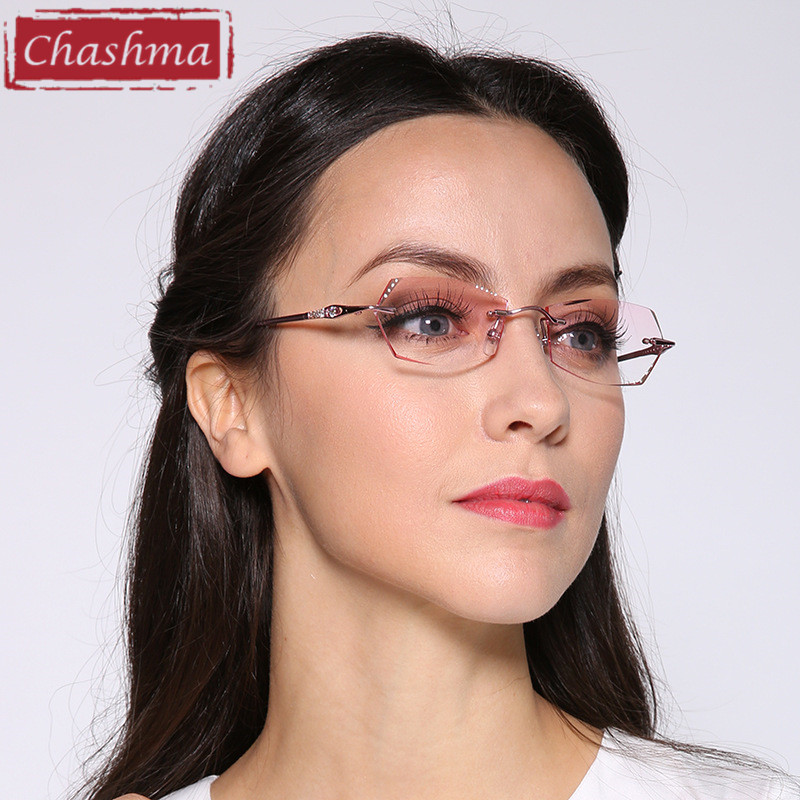 Chashma жаңа сән Корея көзілдірік титан әйелдер миопия көріністердің рамалары