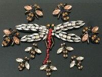 3D dragonfly kralen strass Kant applique patches pailletten borduurwerk patch DIY Kleding decoratieve patch accessoires